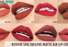 Review Son THELOVE Matte Air Lip Cream – Chất son